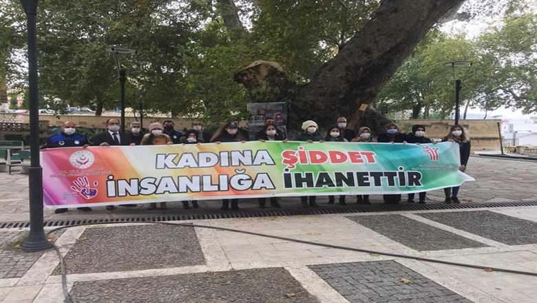 """KADINA ŞİDDET İNSANLIĞA İHANETTİR"""